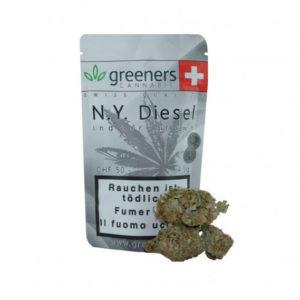 Greeners N.Y. Diesel CBD Cannabis Blüten günstig online kaufen.
