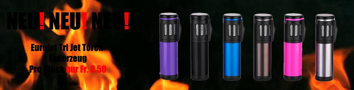 Eurojet Tri Jet Sturm Feuerzeug Torch verschiedene farbe online günstig kaufen schweiz