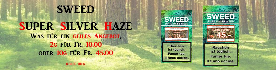 Sweed Super Silver Haze CBD Hanf online günstig kaufen Schweiz 10g 2g Fr. 10 Fr. 45