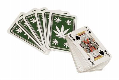 Kartenspiel mit Hanfblatt Poker Spiel Hanf Hemp kaufen online Shop günstig Schweiz