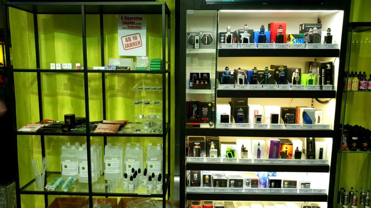 E-Shishas, E-Zigaretten, Verdampfer, Liquids, Aromen, Akkuträger, Squonker, Drähte, Watte
