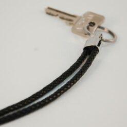 Lederband Schlüsseanhänger schwarz 100cm kaufen