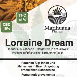 Marihuana Pharms Lorraine Dream 5 Gramm CBD Hanf Cannabis kaufen online Shop legal unter THC Schweiz