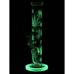 Black Leaf Hemp Leaf Glas Bong 35cm Glow in the Dark kaufen online Shop Schweiz