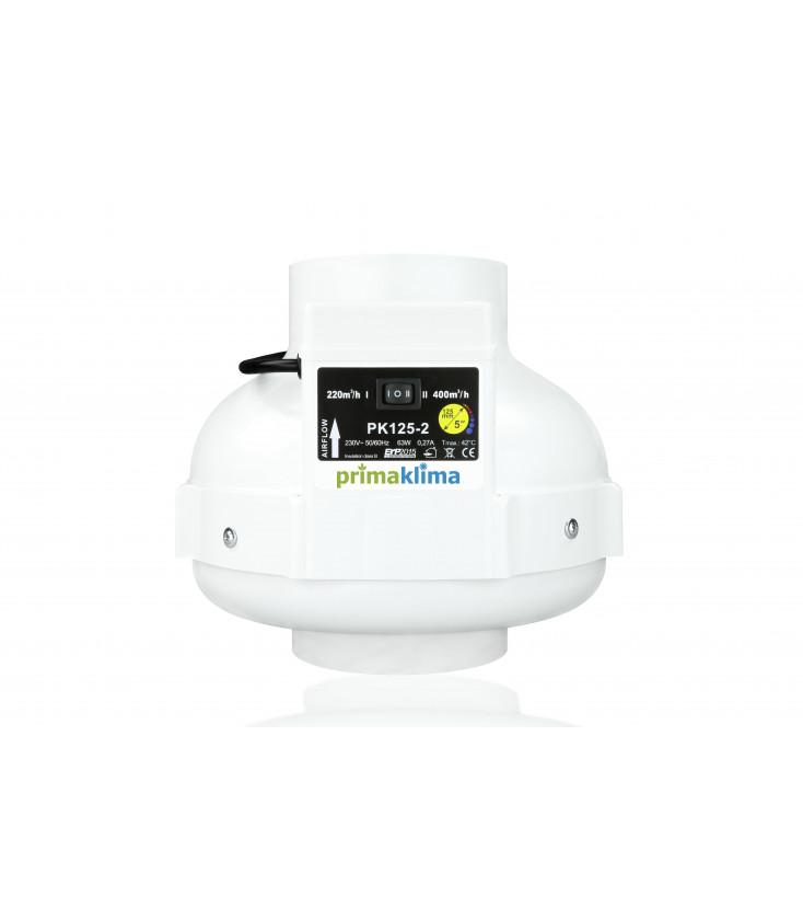 Primaklima pk125-2 Abzugventilator mit 2 Stufen - 360m3-h kaufen