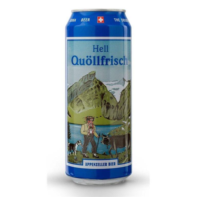 Appenzeller Bier Quöllfrisch Lager Hell 50cl Dose online kaufen