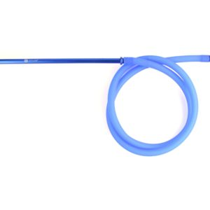 Mata Leon Shisha Silikonschlauch mit Alumundstück blau