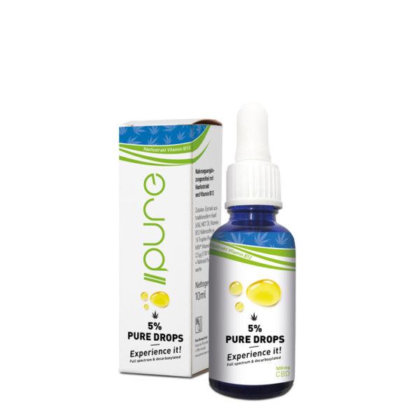 Pure CBD Drops mit Vitamin B12 kaufen online