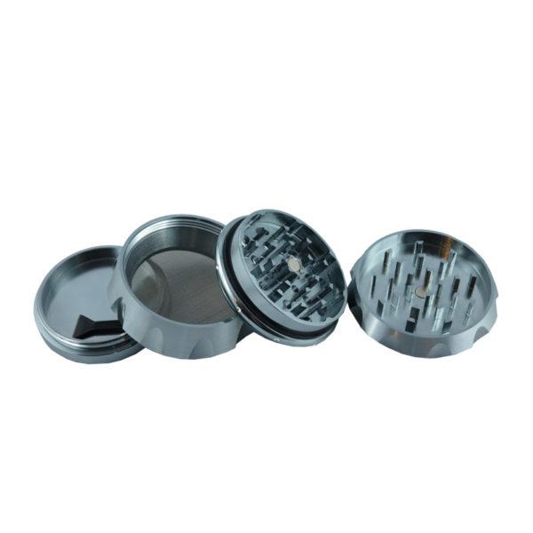 Black Leaf Crown Metallgrinder Silber online bestellen