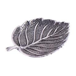 Räucherstäbchenhalter Blatt aus Weissmetall kaufen online