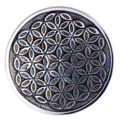 Stäbchenhalter Blume des Lebens Weissmetall kaufen online