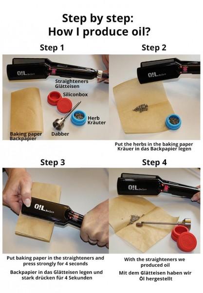 Oil Black Leaf Rosin Presse Anleitung