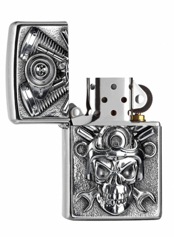 Zippo Feuerzeug Engine Skull Motor Totenkopf offen online bestellen günstig Schweiz