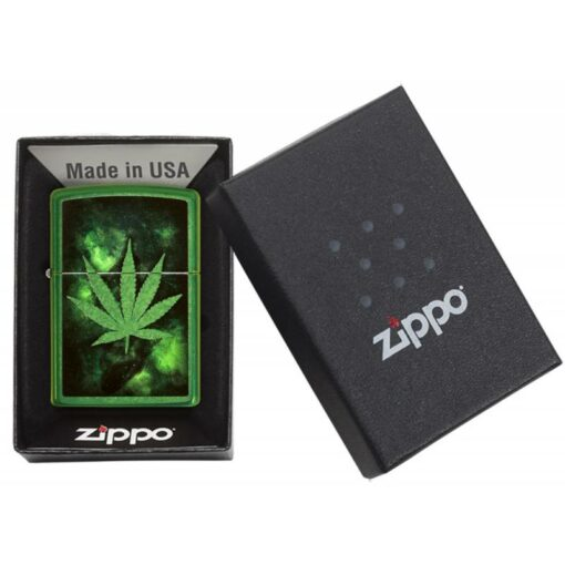 Zippo Feuerzeug Green Leaf Design Grün Geschenk kaufen online shop bestellen günstig schweiz