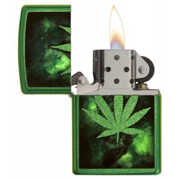 Zippo Feuerzeug Green Leaf Design Grün offen kaufen online shop bestellen günstig schweiz