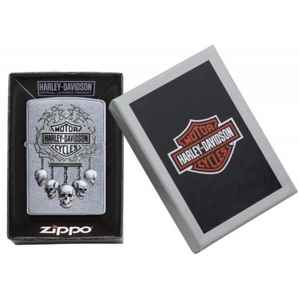 Zippo Feuerzeug Harley Davidson mit Totenkopf Verpackung kaufen online Shop bestellen Schweiz