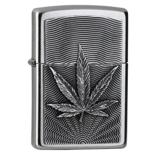 Zippo Feuerzeug Hemp Leaf Emblem bestellen online Shop schweiz günstig