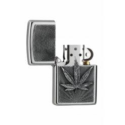 Zippo Feuerzeug Hemp Leaf Emblem offen bestellen online Shop schweiz günstig