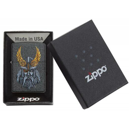 Zippo Feuerzeug Odin Head Design Mythologie Geschenksverpackung offen online bestellen günstig kaufen schweiz