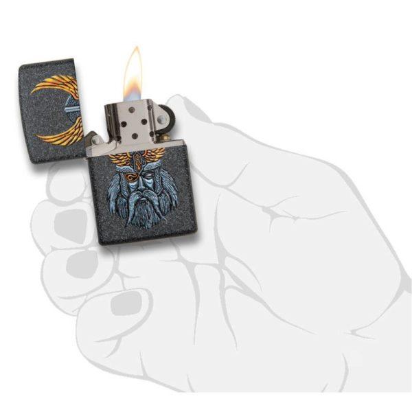 Zippo Feuerzeug Odin Head Design Mythologie offen online bestellen günstig kaufen schweiz