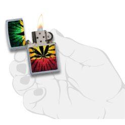 Zippo Feuerzeug Rastafari Leaf Design Hand kaufen online shop schweiz günstig