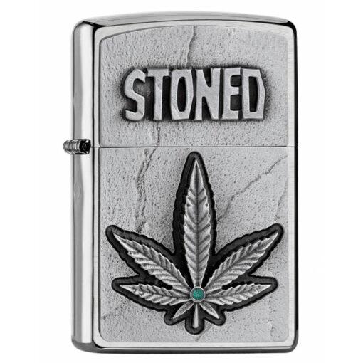 Zippo Feuerzeug Stoned Kiffer Marihuana Hemp bestellen online Shop Schweiz günstig1