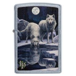 Zippo Feuerzeug Lisa Parker Kolektion Wolf wölfe trinken kaufen online Shop Schweiz günstig