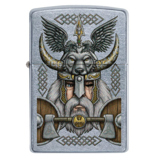 Zippo Feuerzeug Viking Odin Wolf Narbe Horn kaufen online Shop Schweiz günstig