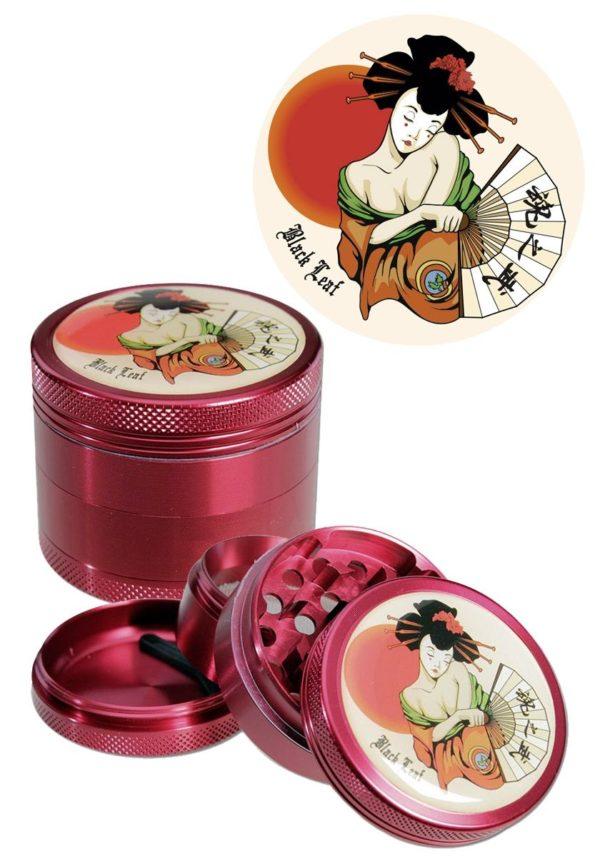 Geisha Grinder Rot Black Leaf kaufen online Shop schweiz günstig