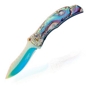 Herbertz Einhandmesser Rainbow Dragon Drachengriff Titan beschichtung kaufen online Shop Schweiz kaufen günstig