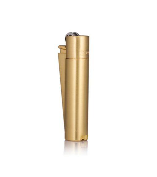 Clipper Feuerzeug Gold matt mit Geschenkbox kaufen online shop schweiz günstig Romanshorn