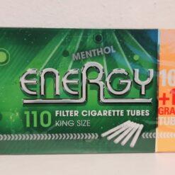 Energy Menthol Zigarettenhülsen 100 + 10 Gratis kaufen online günstig Schweiz