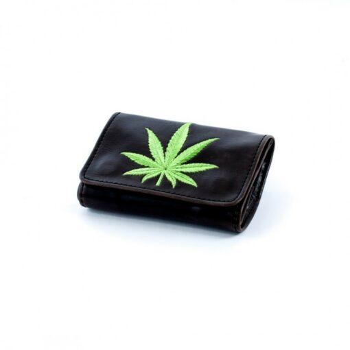 La Siesta Tobacco Pouch Tabaktasche Drehbeutel mit Hanfblatt Leder kaufen online Shop Schweiz günstig