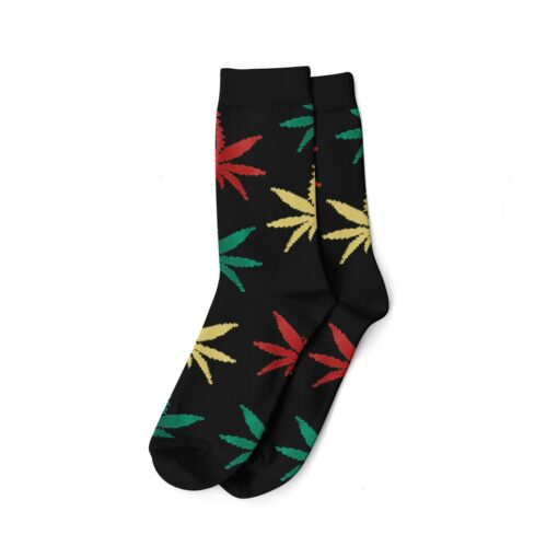 Long Socks Hanfsocken We Love Socks Hanfblatt Rasta Schwarz kaufen Schweiz günstig Online Shop