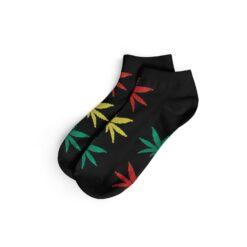 Short Socks kurze Hanfsocken We Love Socks Hanfblatt Rasta Schwarz kaufen Schweiz günstig Online Shop