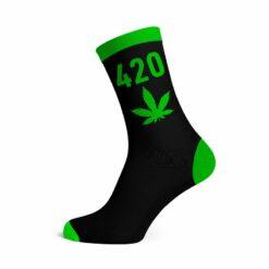 We love socks 420 Neon Green Leaf Socks online Shop Schweiz günstig kaufen