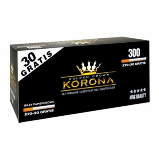 Korona Zigaretten Hülsen mit Filter 300 kaufen günstig zum stopfen Schweiz online Shop