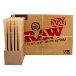 RAW Cones unbleched ungebleicht Cones 800 Stück Box kaufen günstig Online Shop Schweiz