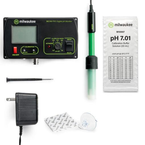 Milwaukee MC 110 Pro pH Monitor Mid Range Messgerät Fühlerkolben kaufen schweiz growshop günstig online