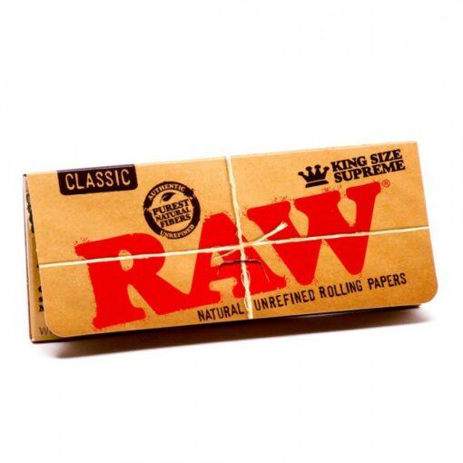 RAW King Size Supremem Creaseless ubleached Papers ungebleichtes Papier knitterfrei kaufen online shop schweiz günstig