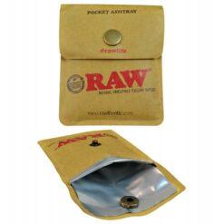 RAW Pocket Ashtray Feuerfest Taschenascher zum mitnehmen offen kaufen online shop günstig schweiz