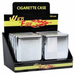 Wild Fire Zigarettenetui Chrom Cigarette Case offen assortiert display kaufen schweiz günstig online shop