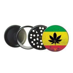V Syndicate Grinder Rasta Non Stick Jamaica Leaf 4 teilig kaufen online shop schweiz günstig
