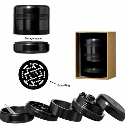Grace Glass 5 teiliger Grinder schwarz Black 50mm Durchmesser kaufen schweiz günstig online shop